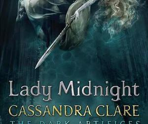 shadowhunters, lady midnight, and book image