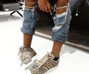 adidas, denim, and fashion image