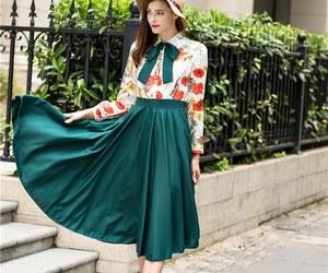 dress, kfashion, and floral image