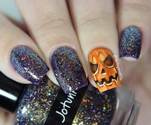 Halloween, nails, and glitter image