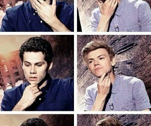 dylan o'brien, thomas brodie sangster, and maze runner image