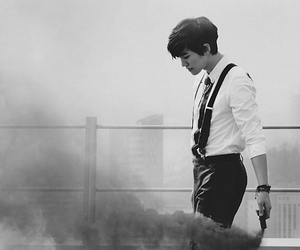 2PM, black and white, and junho image