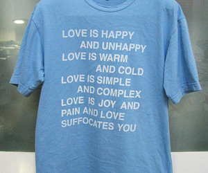 love, blue, and happy image