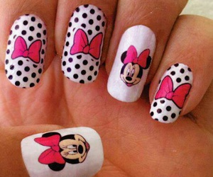 nails, minnie, and pink image