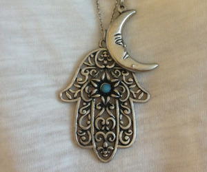 moon, necklace, and hand image