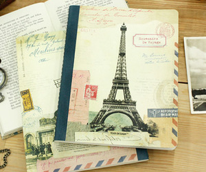 notebook, paris, and torre eiffel image