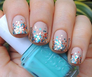 design, ombre, and colorful shimmery image
