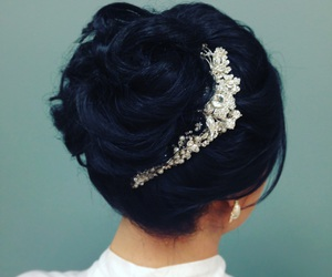 bride, hair, and updo image