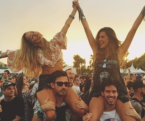 friends, summer, and festival image