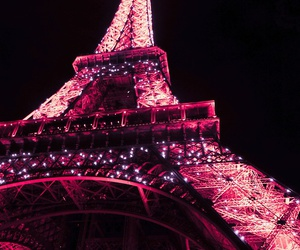 paris, pink, and light image
