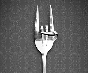 rock, fork, and cool image