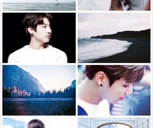 aesthetic, kpop, and sea image