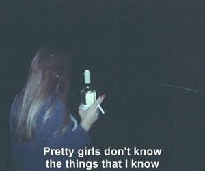 cigarette, girls, and grunge image