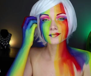 artist, beauty, and colorful image