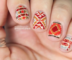 nail art, love fashion, and autumn designs image