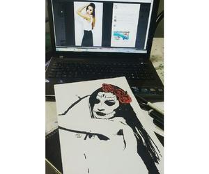 art, best friend, and black image