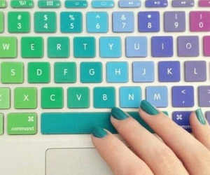 keyboard, pale, and kawaii image