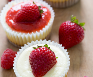 strawberry, cheesecake, and dessert image