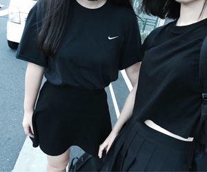 black, nike, and grunge image