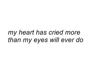 broken hearted, cry, and heart image