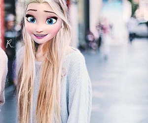 blonde, edit, and frozen image