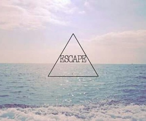 escape, sea, and summer image
