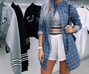 checkered, dope, and nails image