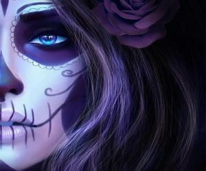 dark, rose, and purple image