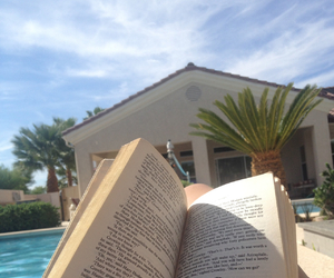 Las Vegas, reading, and summer image