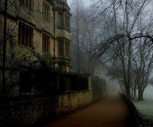 fog, haunted, and home image