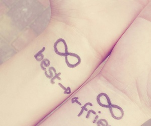 forever, my best friend, and love image