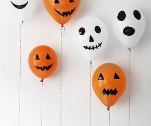 Halloween, balloons, and orange image