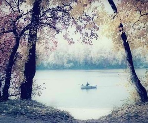 beautiful, blossom, and boat image