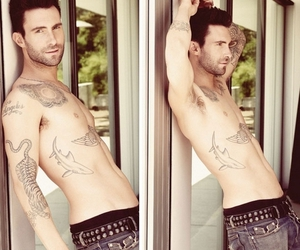 tattoo, Tattoos, and adam levine image