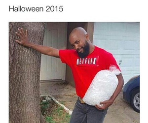 funny, Halloween, and chill image