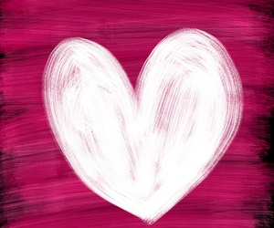 art, heart, and pink image