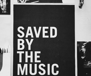 music, black and white, and life image