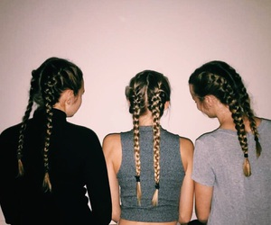 girl, braid, and tumblr image