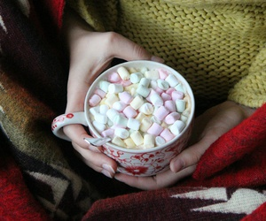 autumn, cozy, and hot chocolate image