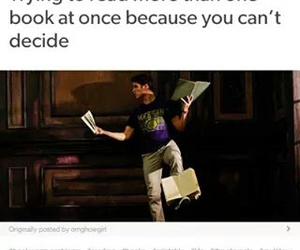 books, funny, and guy image
