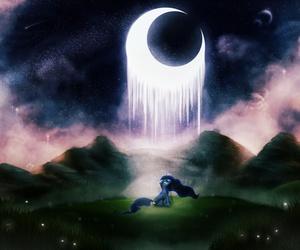 MLP, sad, and princess luna image