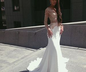 dress, gorgeous, and formal image