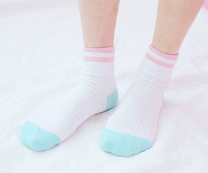 socks, pastel, and pink image