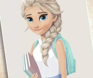 frozen, disney, and school image