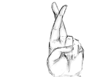 drawing, hand, and fingers image