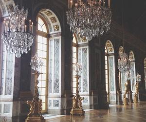 versailles, chandelier, and vintage image