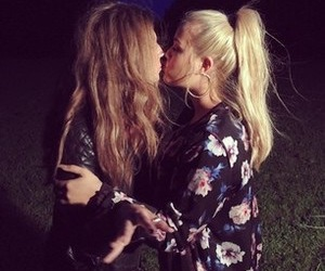 lottie tomlinson, friendship, and kiss image