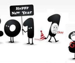 2012, new year, and funny image