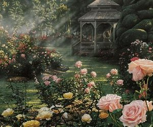 fairy tale, girly, and garden image
