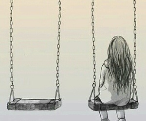 alone and swing image